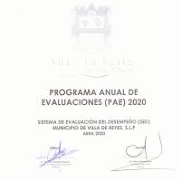 PROGRAMA ANUAL DE EVALUACIONES 2020